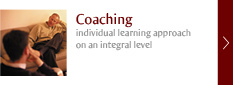 Coaching - individual learning approach on an integral level